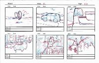 KIa's Zolo Big Game commercial - 6 panel storyboard sketches