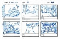 6 panel storyboard sketches - page 1