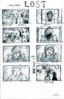 Lost storyboard - 8 panel sketches
