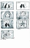 Lost storyboard - 7 panel sketches