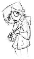 Girl, Sketch 3
