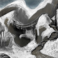 Winter landscape animation