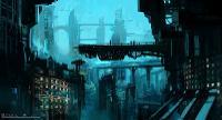 Sci-Fi Cityscape 2 animation
