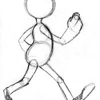 strutting figure