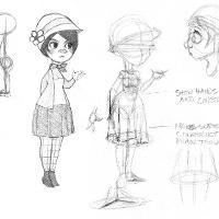 girl sketch details