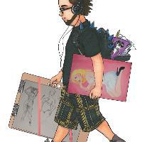 Hipster Walking