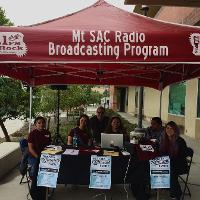 mt. sac broadcasting alumni event booth
