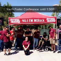 youth foster conference at mt. rock booth