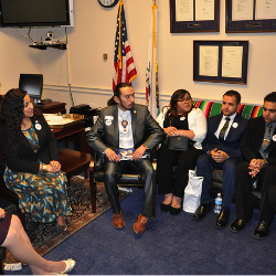 ACES students visiting the Capital meeting with Honorable Grace Napolitano 3