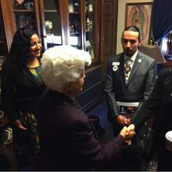 ACES students visiting the Capital meeting with Honorable Grace Napolitano 2