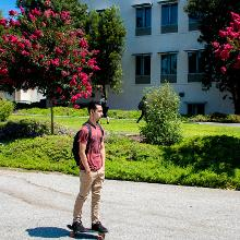 No skateboarding on campus