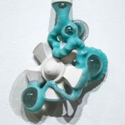 """Porcelain, Silicone, Glass, Glitter, and Silk. 8"""" x 12"""" x 4"""""""