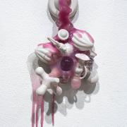 """Porcelain, Silicone, Glass, Glitter, and Silk. 19"""" x 13"""" x 5"""""""
