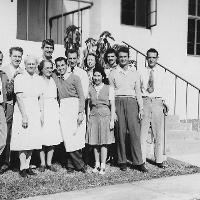 Staff outside Campus Cafe