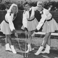 3 women baton twirlers
