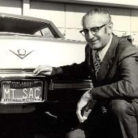 Mt SAC License Plate on car