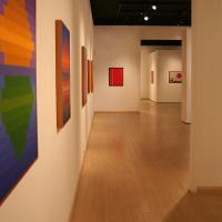 Artwork by Karl Benjamin displayed in Mt. SAC Art Gallery.