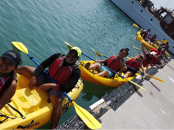 Aces Transfer Bridge Summer Experience - Kayaking in Ventura Harbor, 2016