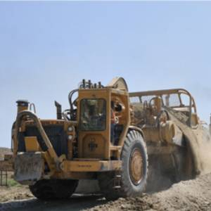 a construction bulldozer
