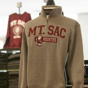 A Mt. SAC shirt on display