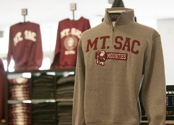 Mt. SAC mountie gear at the bookstore