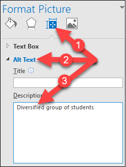 Alt Text Entry Window in Outlook