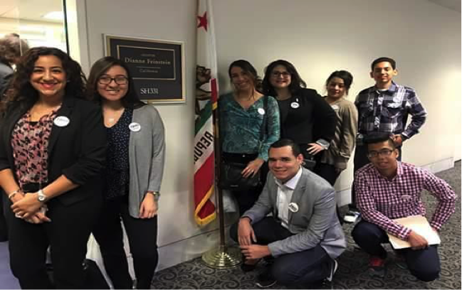 Students visit the Capitol in Washingon DC