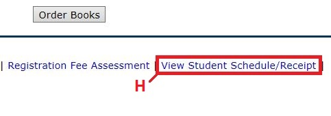 Select View Student Schedule/Receipt to verify changes.