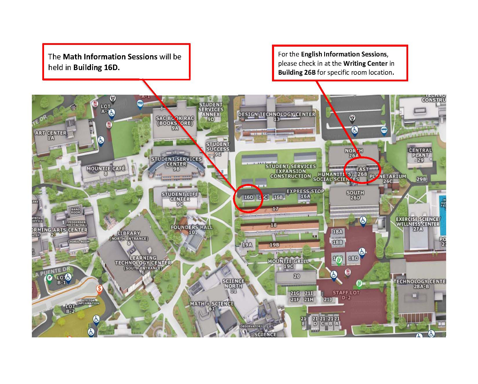 Test Info Session Map-Location of Info Sessions
