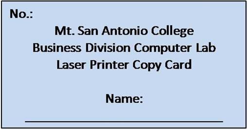 Business Division Black and White Printer Card