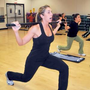 A body blast class at the Wellness Center.