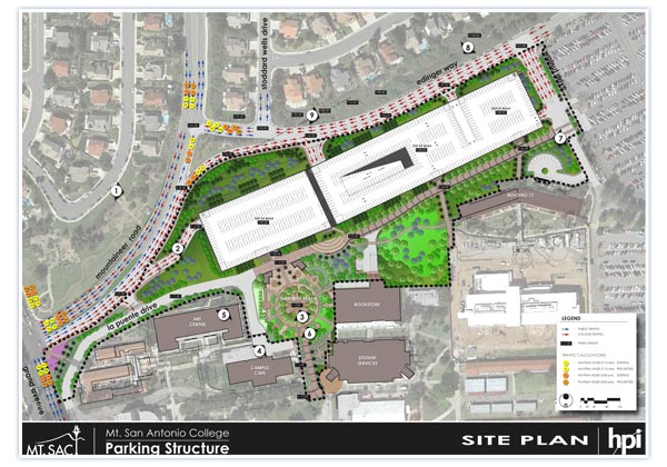 Mt SAC Parking Structure - Mt sac campus map
