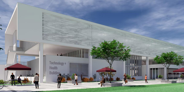 Conceptual rendering of Tech Health Building