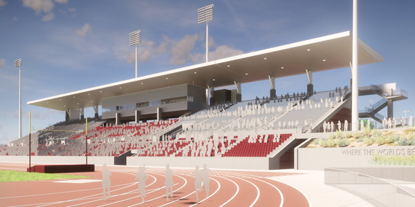 Conceptual rendering of Hilmer Lodge Stadium
