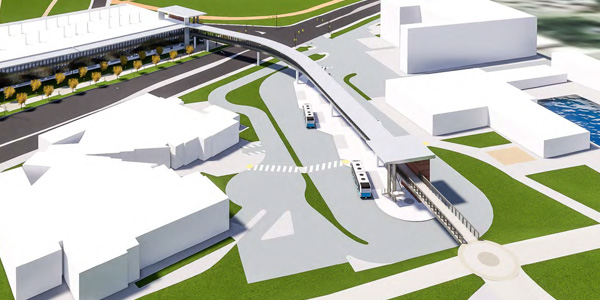 Conceptual rendering of Transit Center