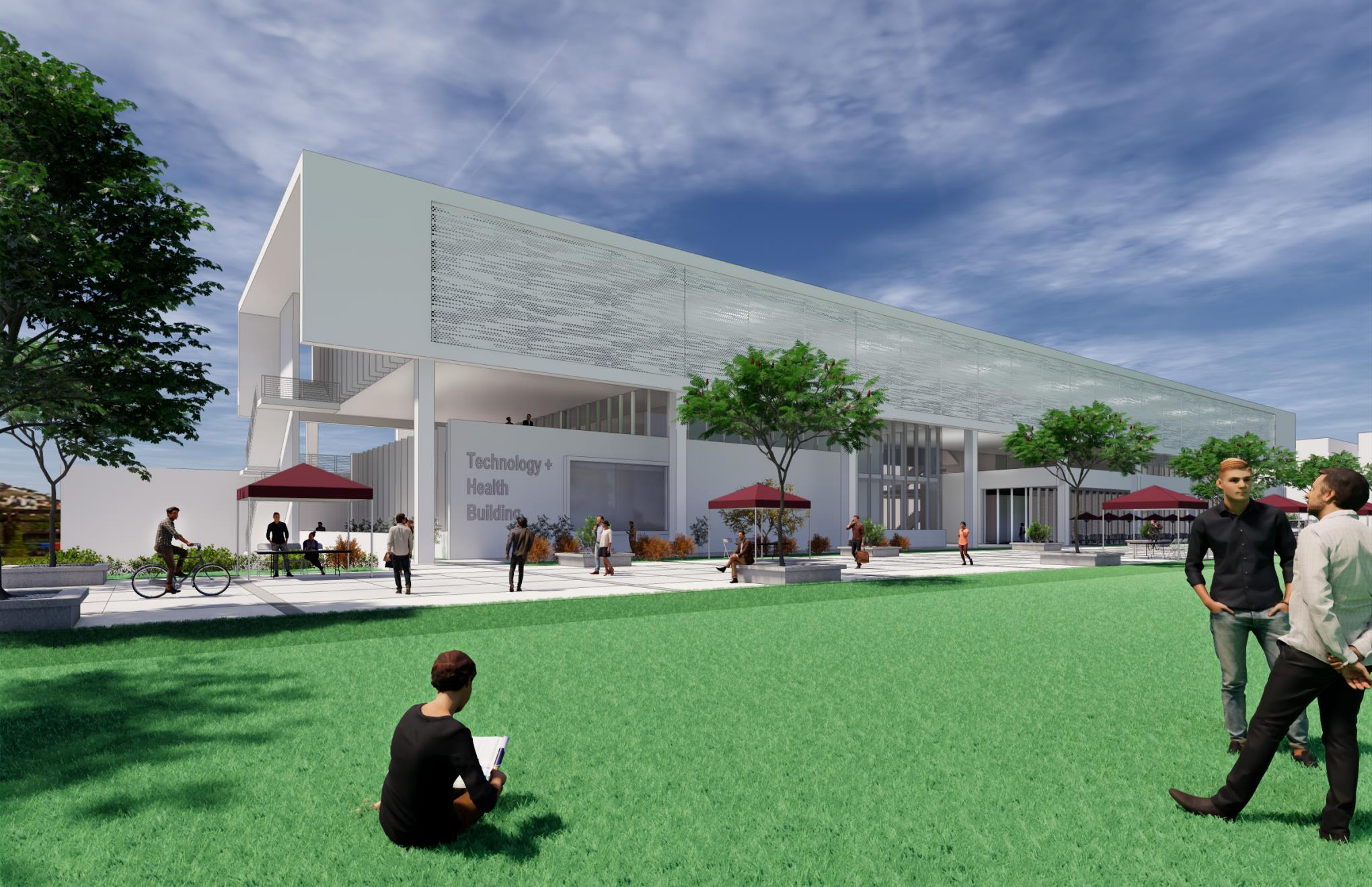 Rendering of Tech and Health Building