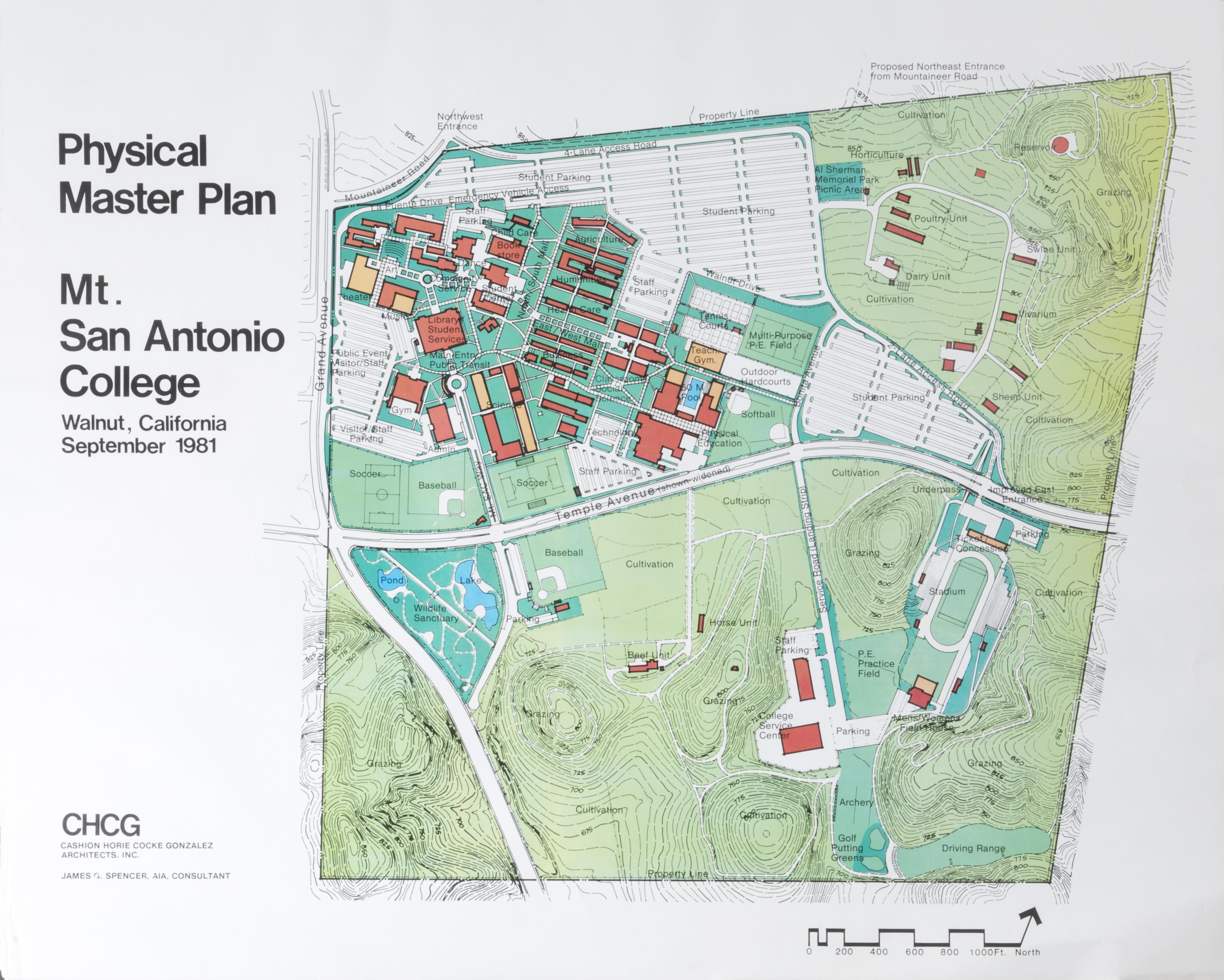 Facilities Master Plan - Mt sac campus map