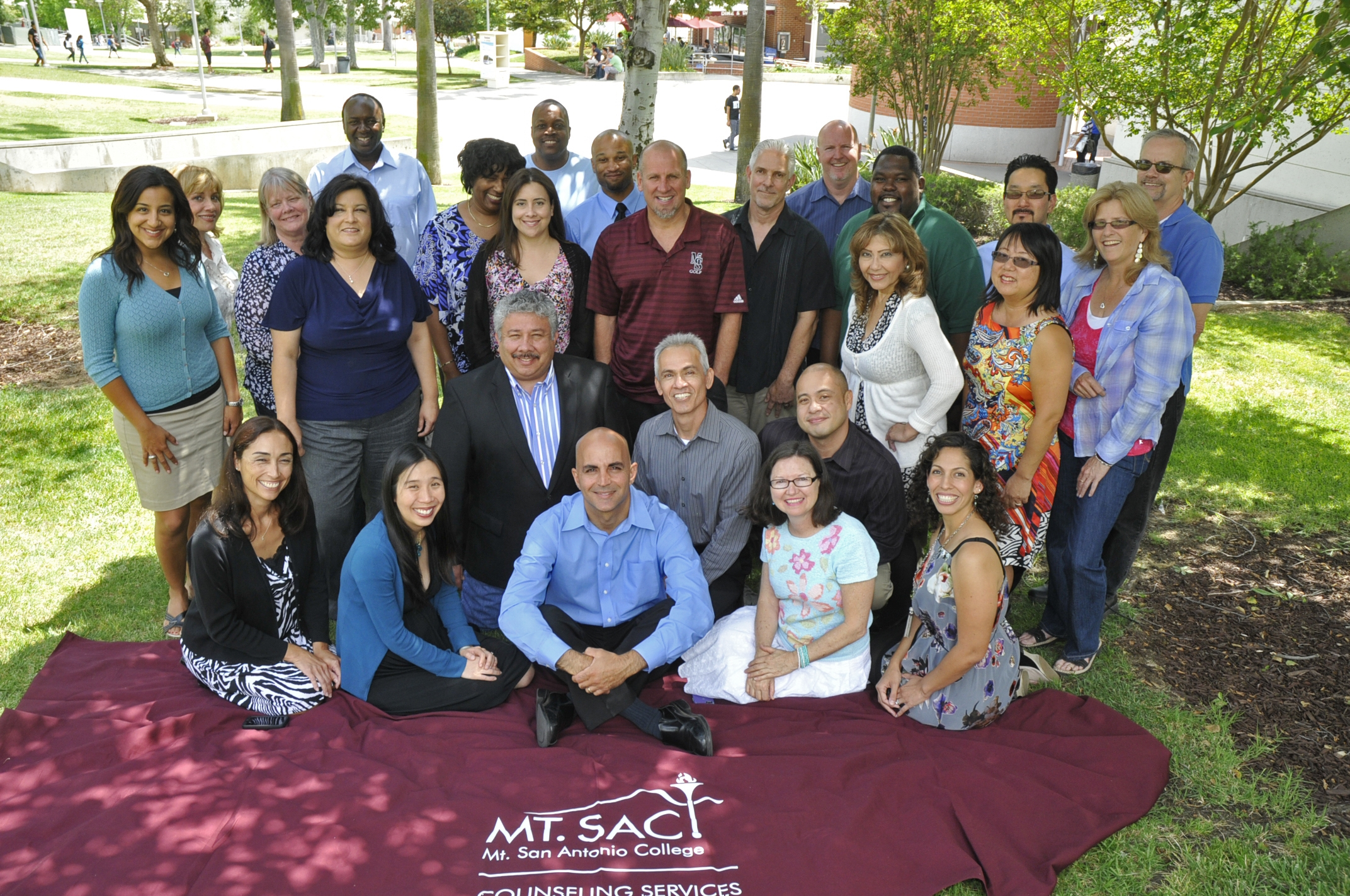 A group photo of the Counseling Department at Mt. SAC