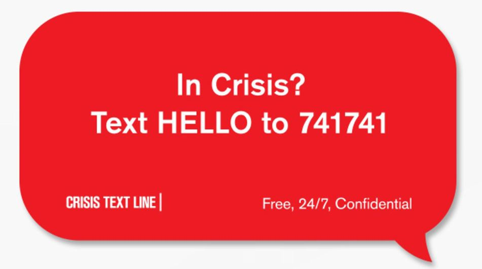 In Crisis Text Hello Photo