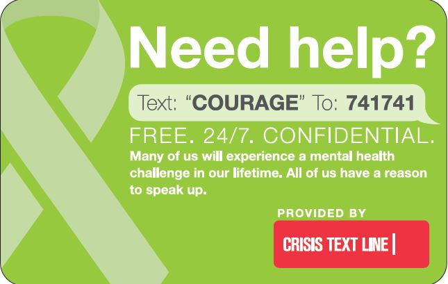 Need Help Text Courage Photo