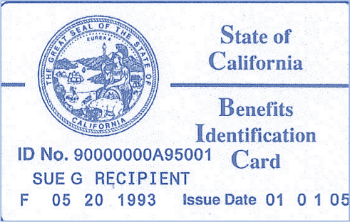 State Of California Benefits ID Card