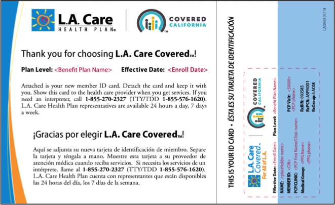 CA Coverage Sample Confirmation