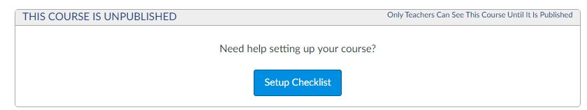 canvas setup checklist button