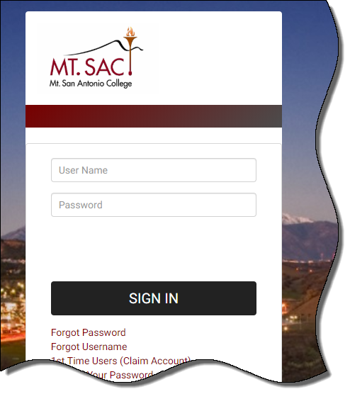 Mt. SAC Student Login