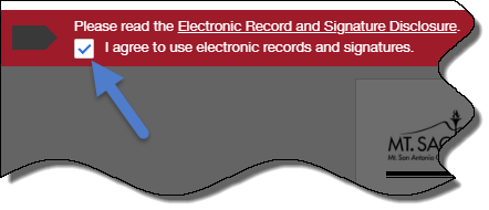 Agree to Sign Electronically