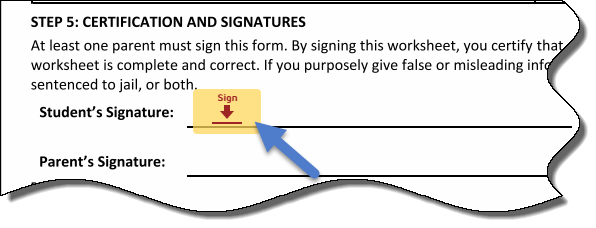 Sign Button