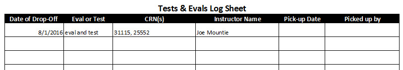 sample of log sheet