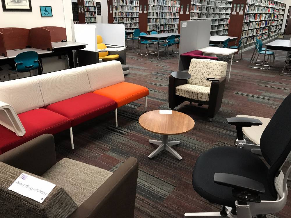library furniture samples to try out