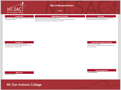 Screenshot of research poster