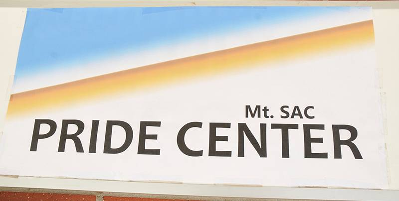 Pride center sign